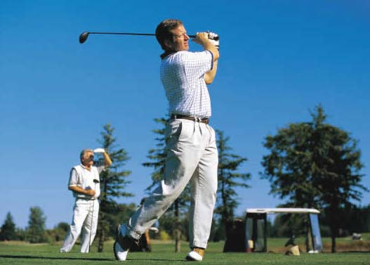 Golf sports and shoulder